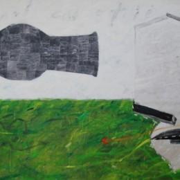 Cetatea copiiilor - acrilic colaj panza - 200 x 133 cm  (3)