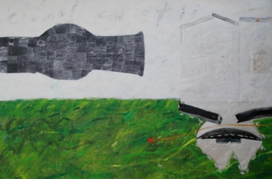 Cetatea copiiilor – acrilic colaj panza – 200 x 133 cm  (3)