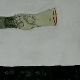 Flux -grafica, colaj - 150x150cm