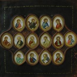 Apostolii - tempera, lemn, ceramica -40'36 cm