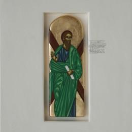 Apostolul Andrei - tempera lemn - 40,27cm
