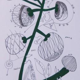 Calea 13, creion tempera, 10,15cm