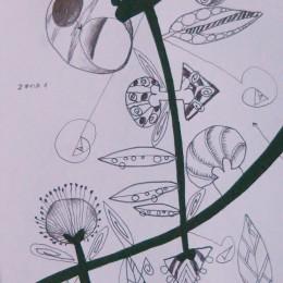 Calea 2, creion tempera, 10,15cm