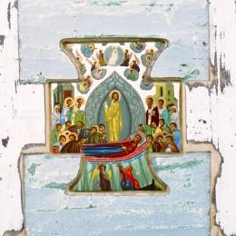 Adormirea Maici Domnului - tempera lemn - 48'34cm
