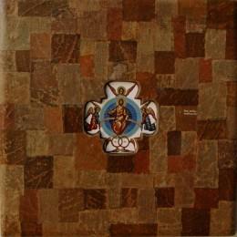 Iisus Hristos Pantocrator - tempera,lemn,frunza de vita - 30'30cm