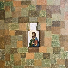 Iisus hristos-frunza de vita lemn - 38x31 cm