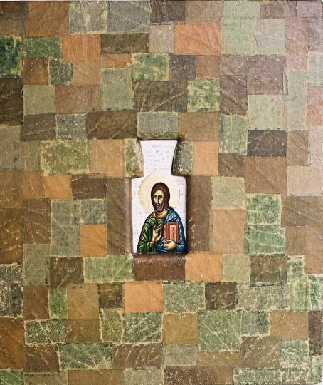Iisus hristos-frunza de vita lemn – 38×31 cm